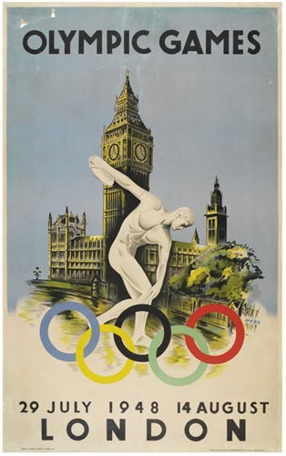 Olympic Games London 29 July-14 August 1948 Official Poster